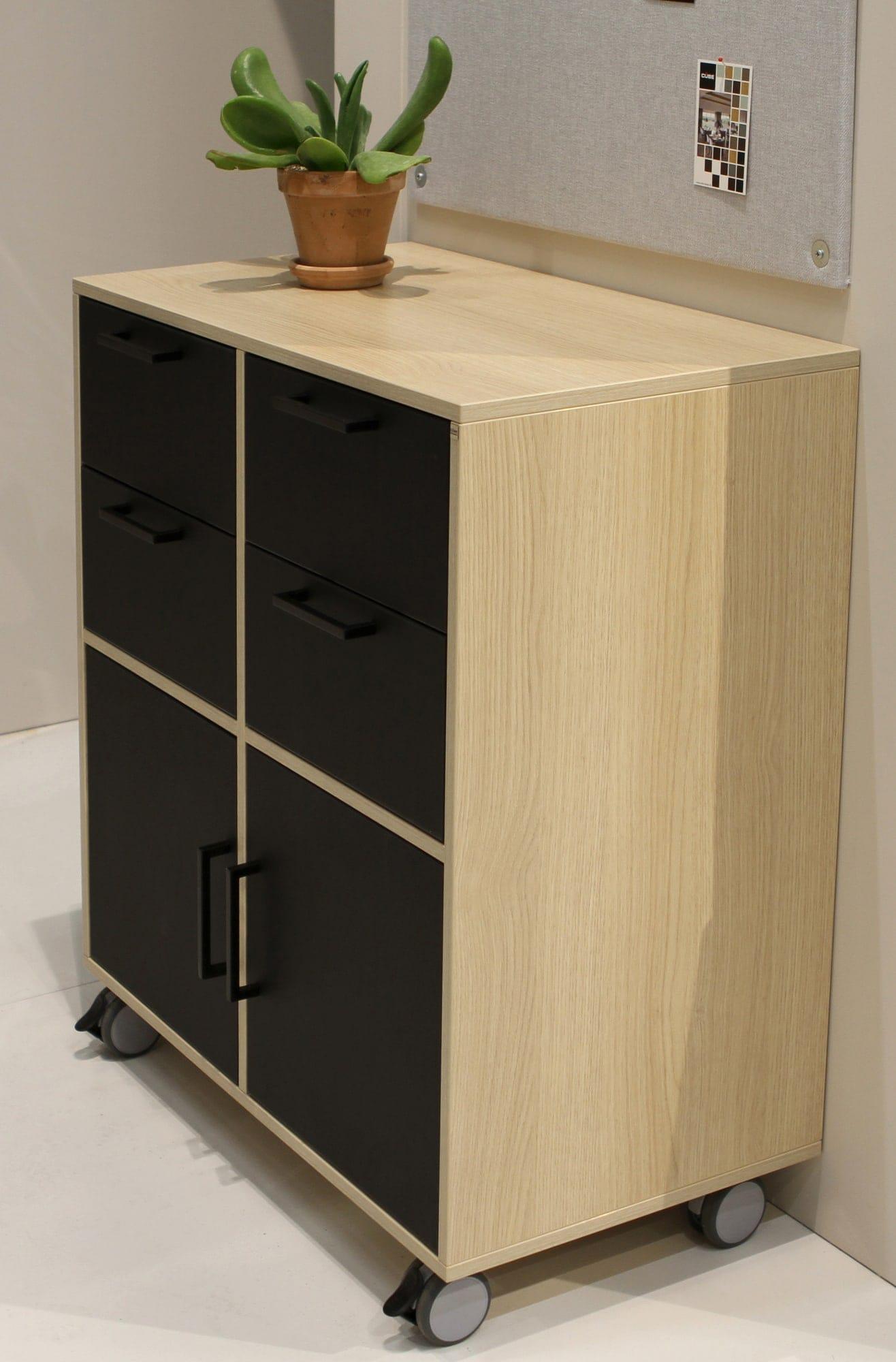 Oak laminate cabinet