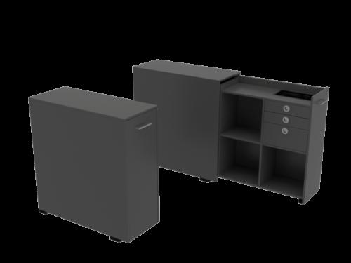 Cube Design | kontormøbler | Quadro | Udtræksskab