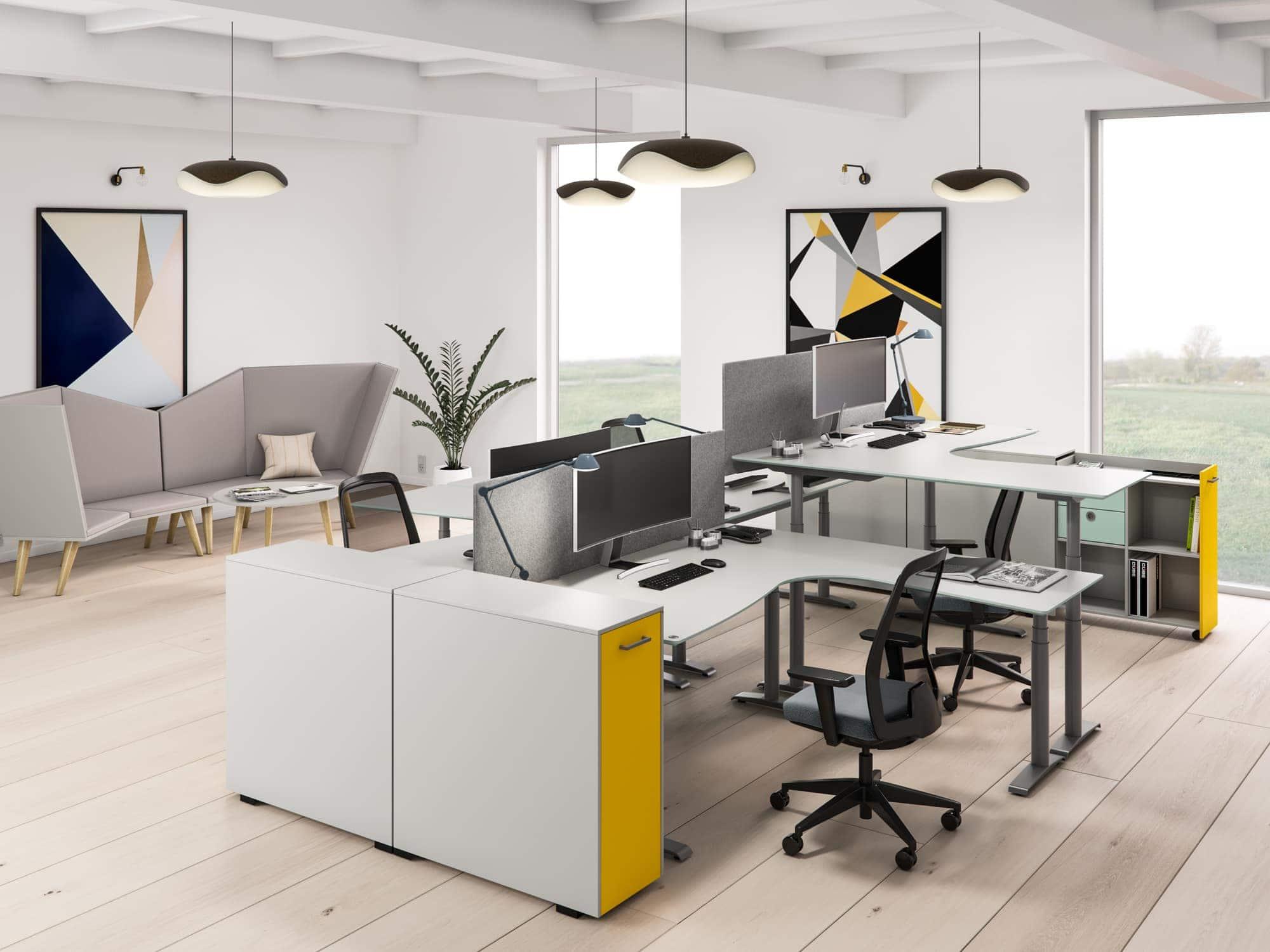 Cube Design | kontormøbler | Quadro skrivebord | Udtræksskabe