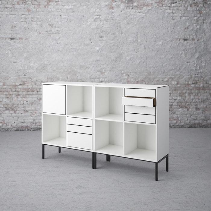 Cube Design - kontormøbler- gering - mitre joint - smigvinkel - slagfast ABS-kant - V opbevring