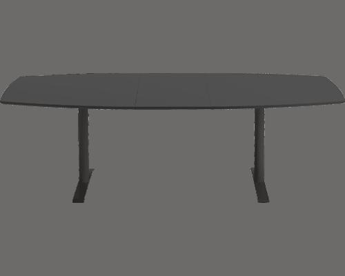Cube Design | kontormøbler | konferencebord | synkronudtræk med tillægsplader | sort linoleum