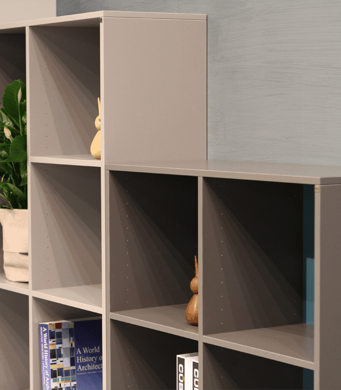 Quadro i koksgrå og mellemgrå – samling