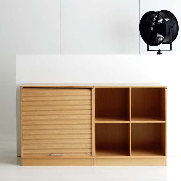 Cube Design - kontormøbler - jalousiskab med finérfront