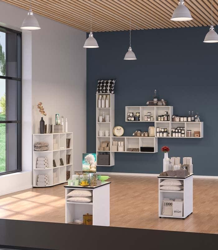 Cube Design - kontormøbler - reol til kontor - indret reolen som du vil
