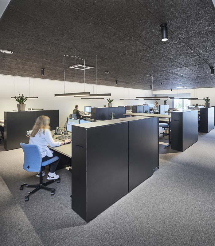 Cube Design - kontormøbler - udtræksskab - sideskab - udtræksskabe
