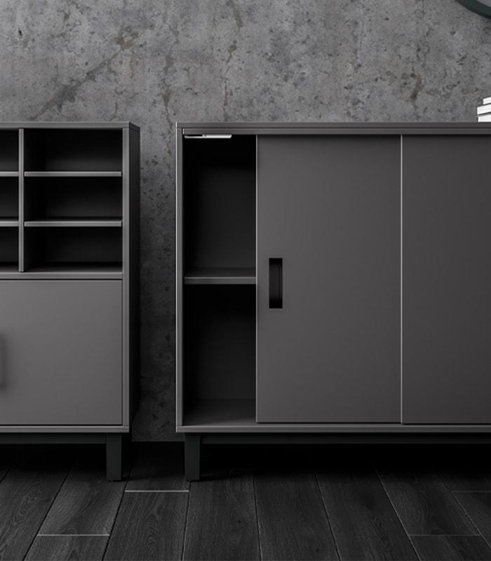 Cube Design - kontormøbler - opbevaring - skydedørsskab