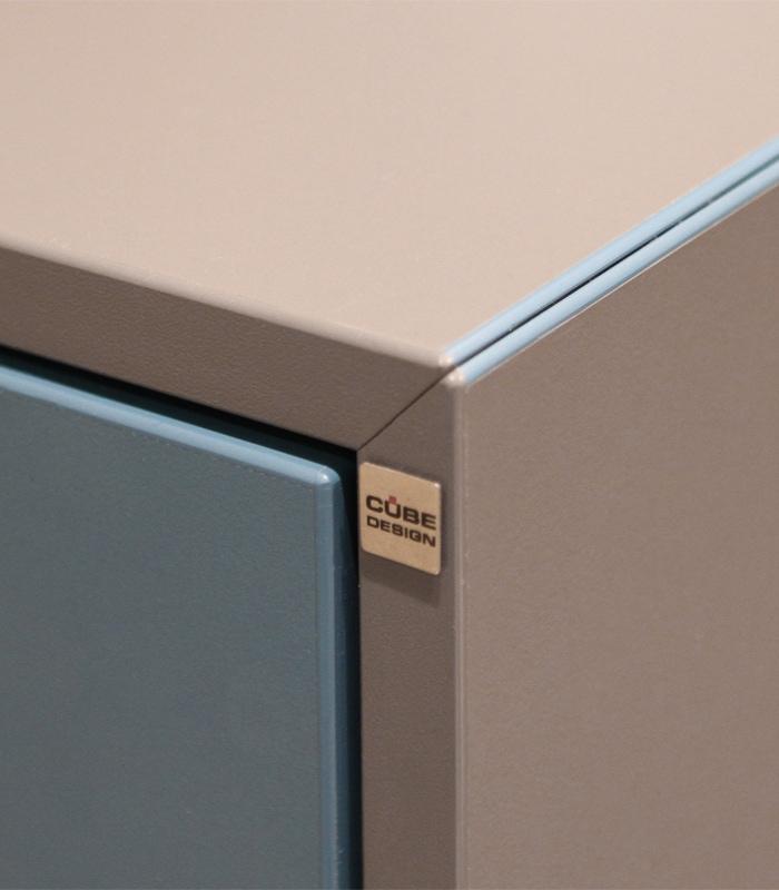Cube Design - kontormøbler - ABS-kant i gering - slagfast ABS kant på skab - V opbevaring - skabe - cabinets