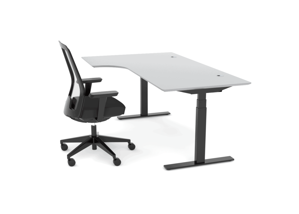 Cube Design - kontormøbler - dyb mavebue 250 mm - Raw