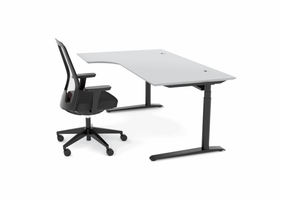 Cube Design - kontormøbler - dyb mavebue 250 mm - Quadro