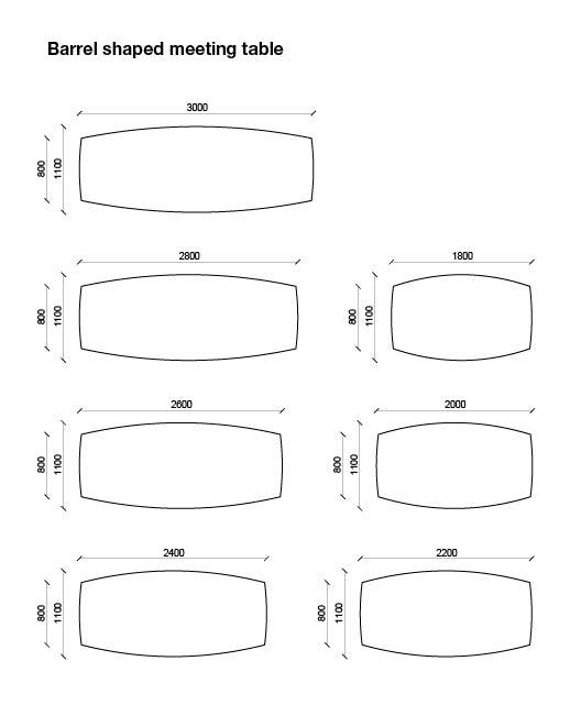 Quadro – Barrel shaped conference tables