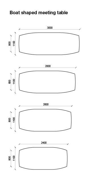 Amigo – Boat shaped conference tables