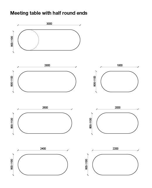Amigo – Conference tables with half round ends