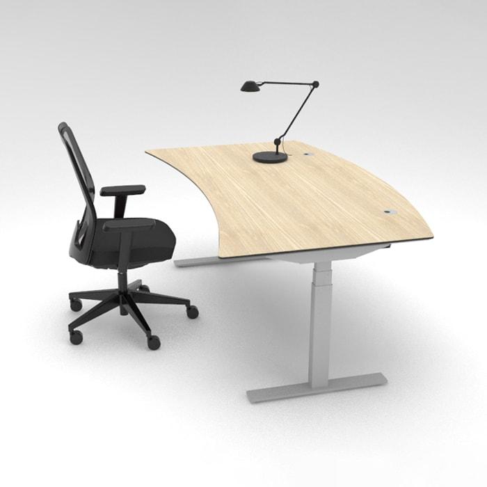 Cube Design - kontormøbler - RAW skrivebord med helbue og mødebue