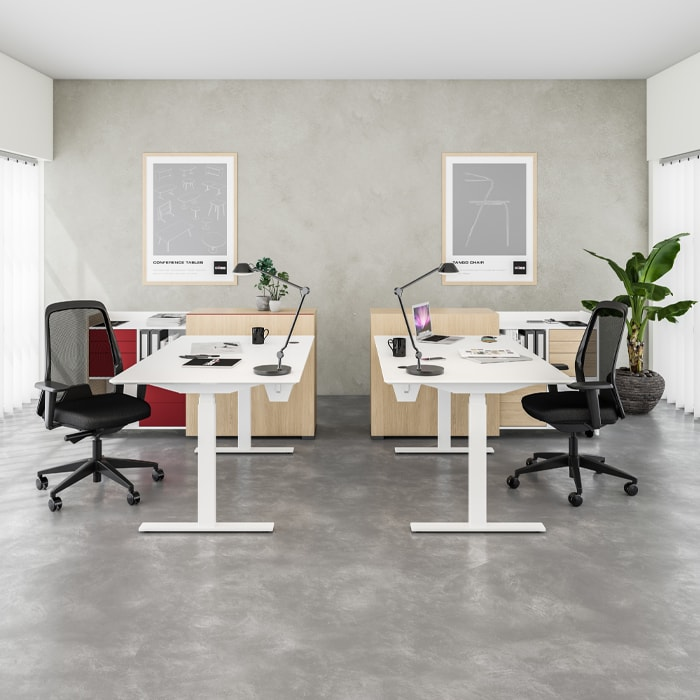 Cube Design - kontormøbler - RAW skrivebord - rektangulær