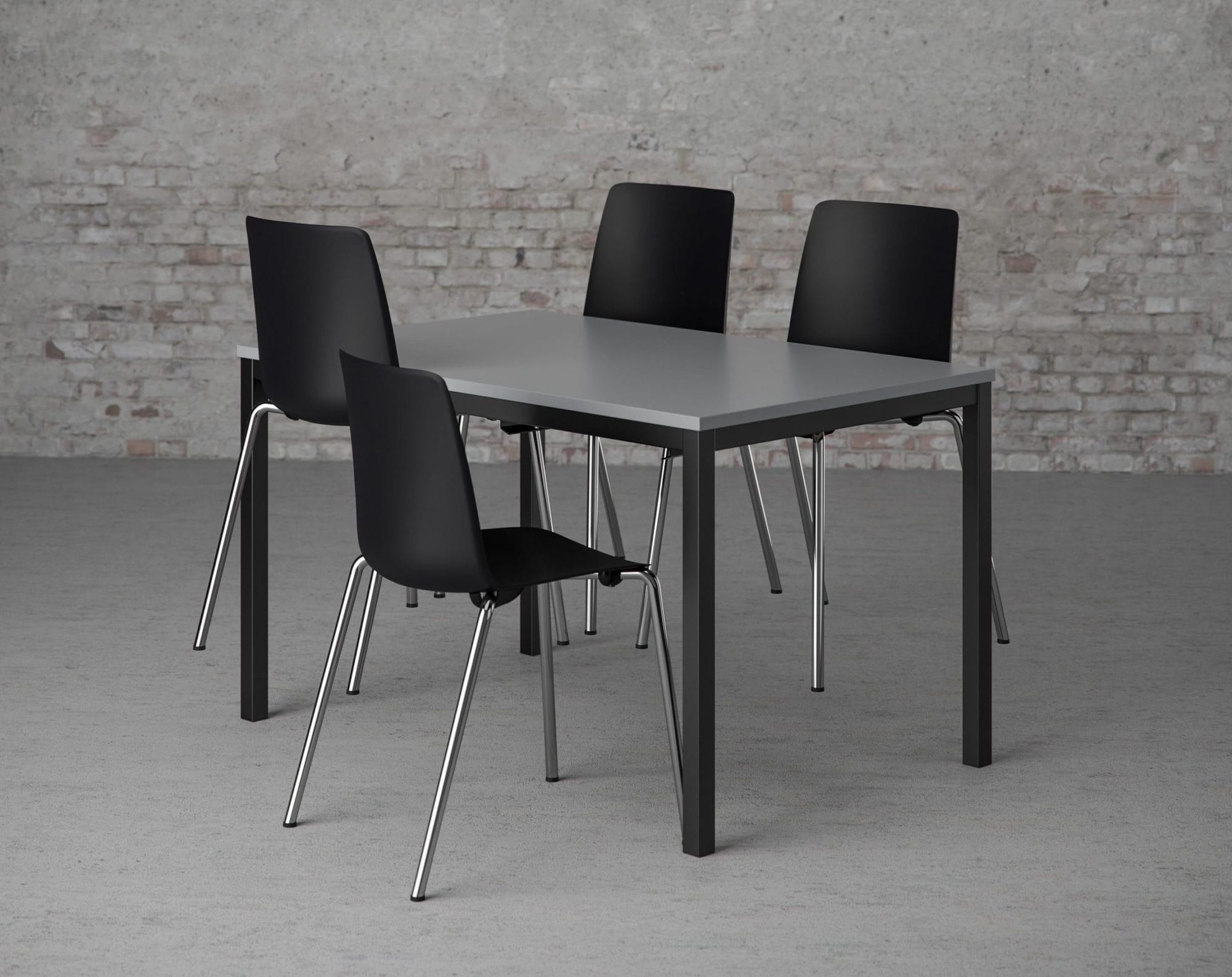 Cube Design - kontormøbler - kantinebord - skalstol - kantinestole