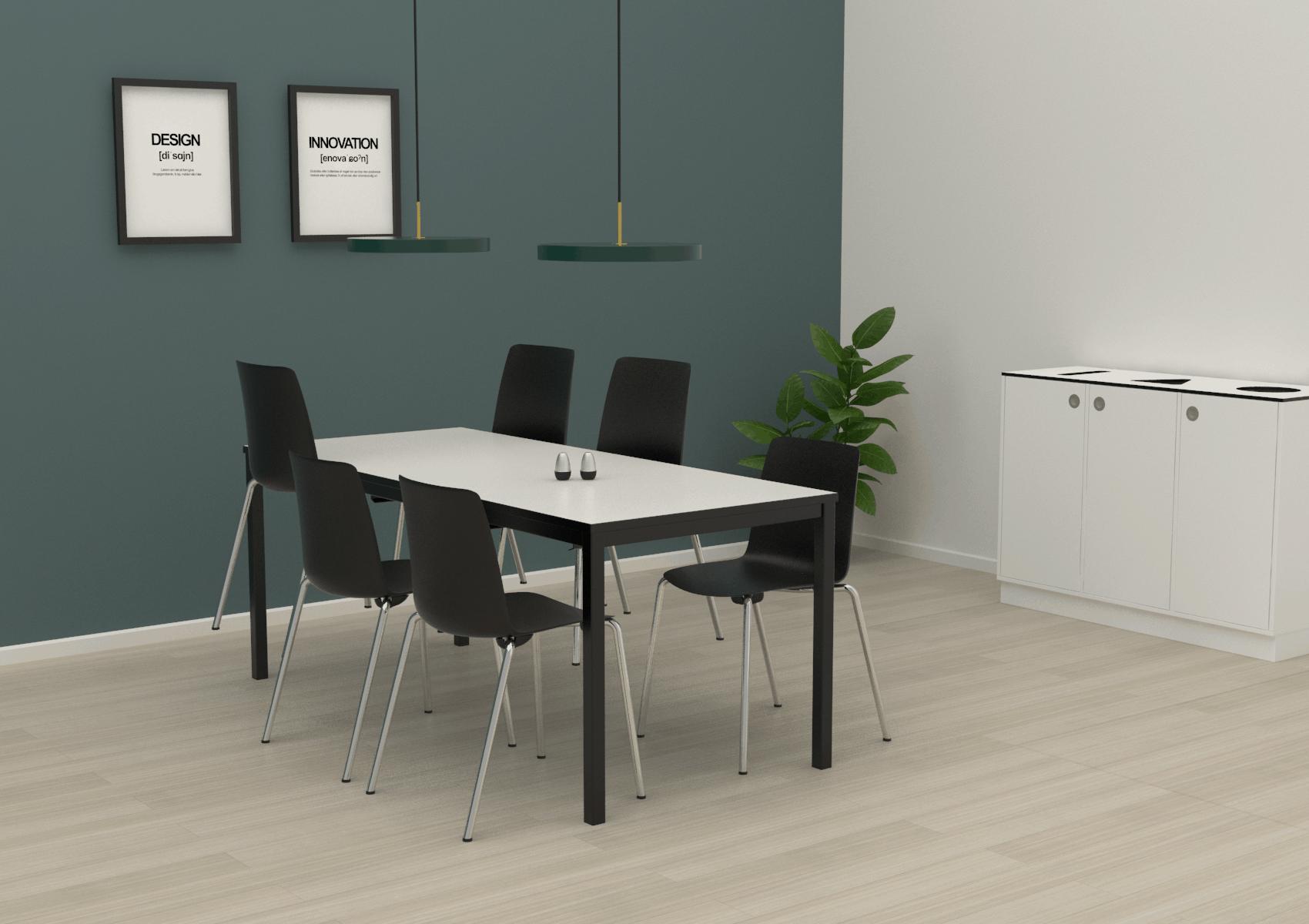 Cube Design - kontormøbler - kantinebord - Vesper stol - skalstol - miljøstation