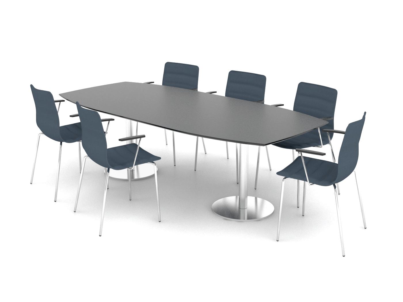 Cube Design - bådformet konferencebord - søjler