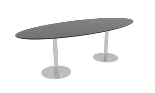 Cube Design - ellipseformet konferencebord - søjler