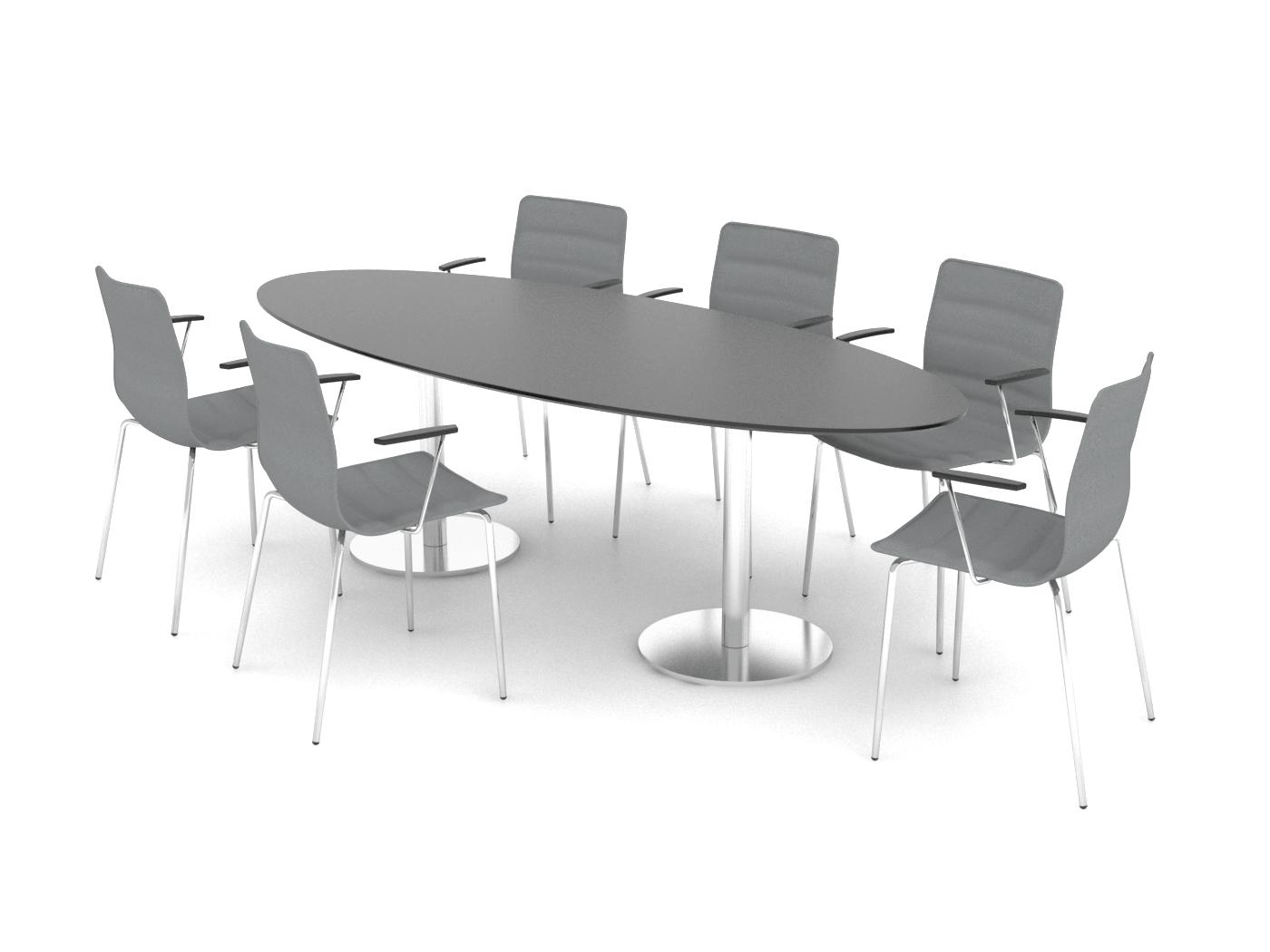 Cube Design - ellipse konferencebord - søjler