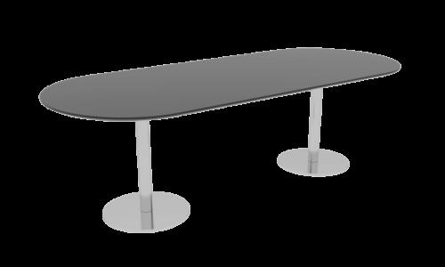 Cube Design - konferencebord med halvrunde ender - søjler