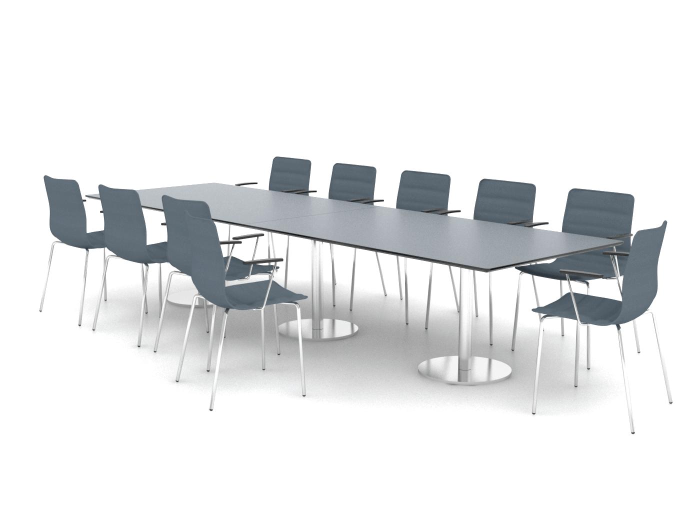 Cube Design - langt konferencebord - søjler
