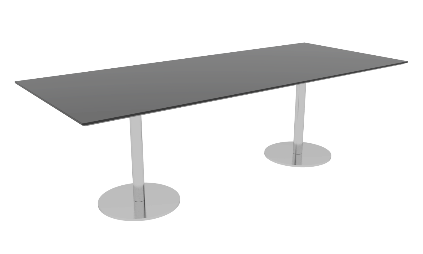 Cube Design - rektangulær konferencebord - søjler
