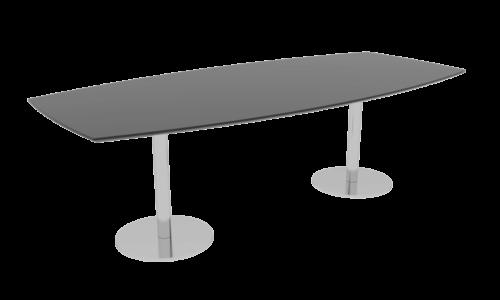 Cube Design - tøndeformet konferencebord - søjler