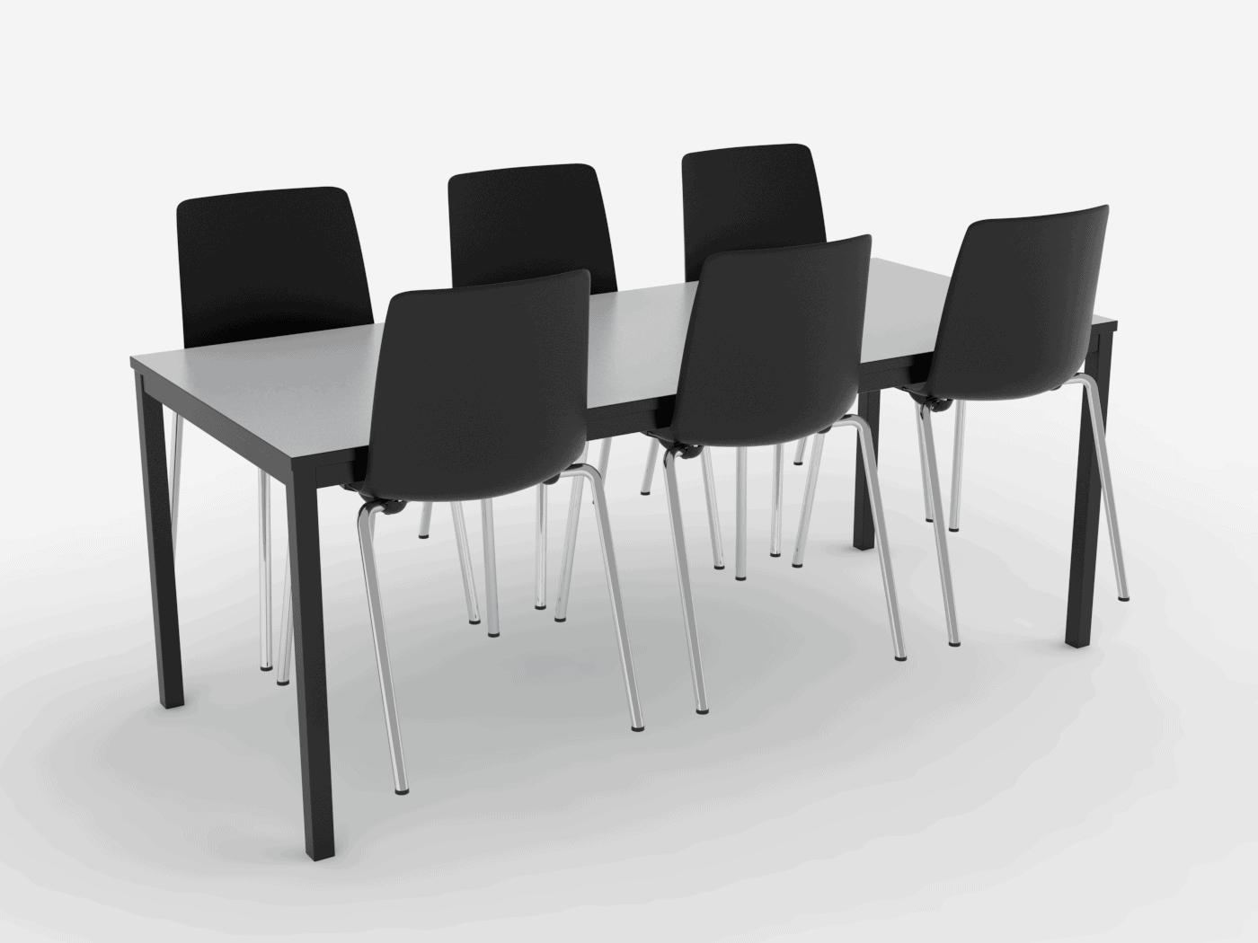 Cube Design - kontormøbler - Kant bord - mødebord - kantinebord