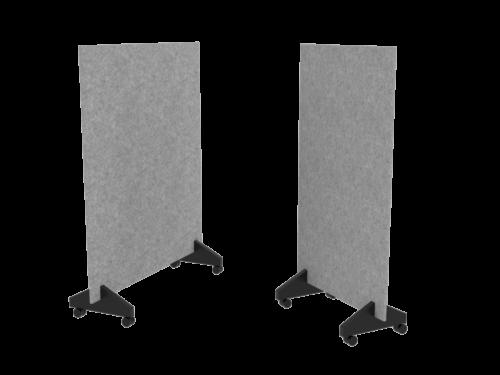 Cube Design - kontormøbler - gulvskærmvæg på hjul