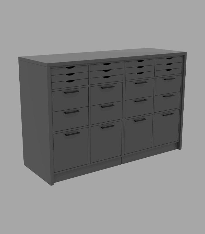 Lite cube skranke med opbevaring