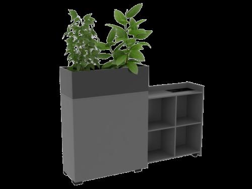 Cube Design - kontormøbler - blomsterkasse til udtræksskabe