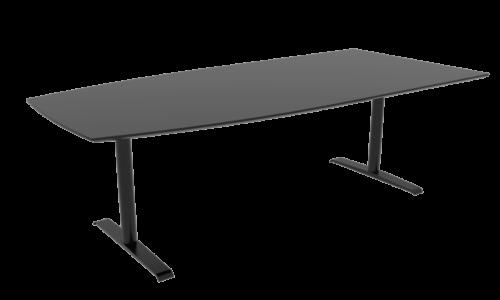Cube Design - bådformet konferencebord - Quadro T-stel