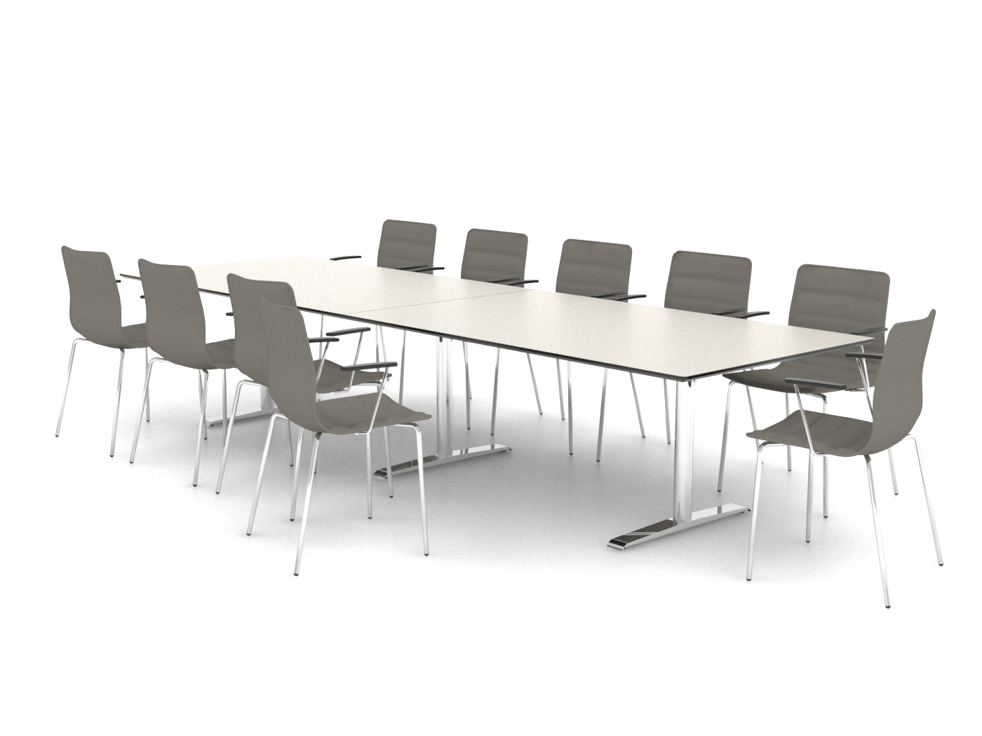 Cube Design - rektangulær konferencebord - Quadro T-stel - Quadro konferencebord