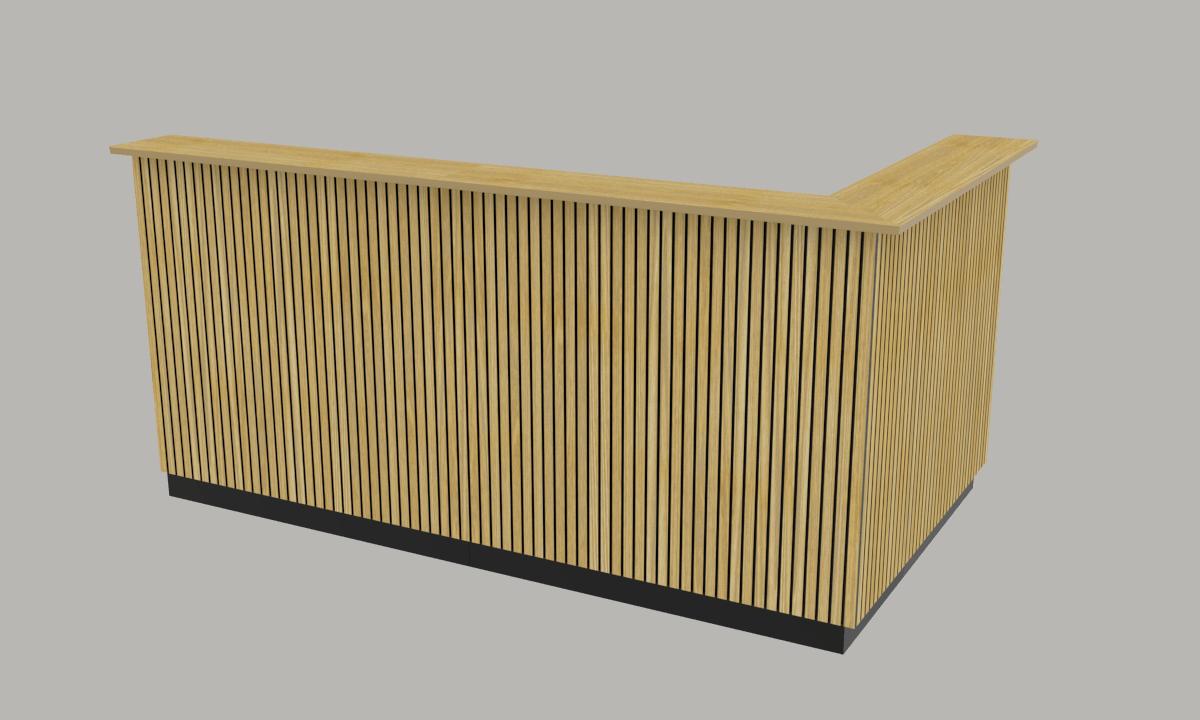 Cube Design - kontormøbler - skranke med lameller
