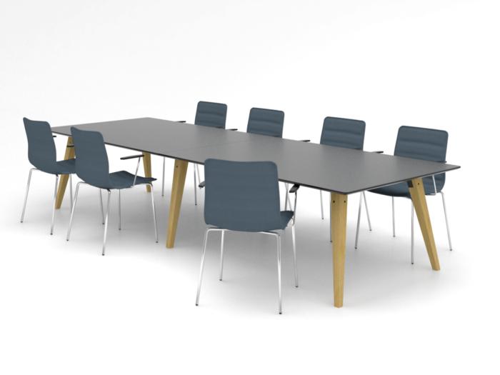 Cube Design - Spider konferencebord - massive træben