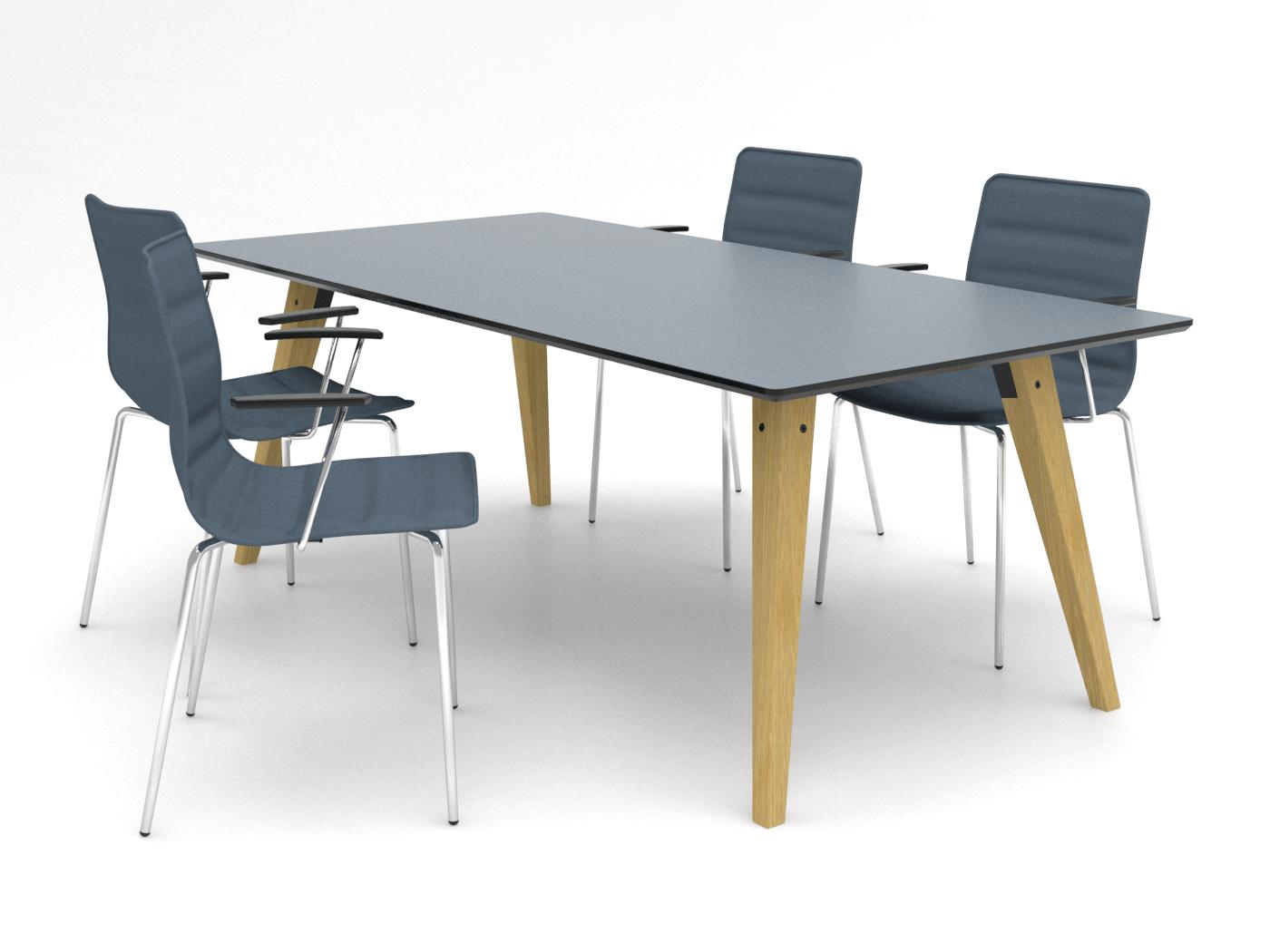 Cube Design | kontormøbler | Spider | Mødebord | S10 | massive træben | egetræsben