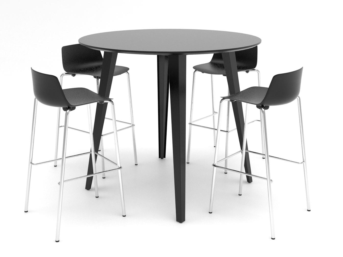 Cube Design - Spider højbord - Vesper barstole