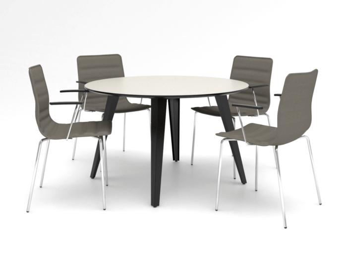 Cube Design - kontormøbler - Spider mødebord - S10 stole