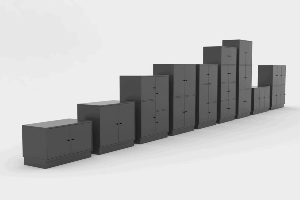 Cube Design - kontormøbler - lockers - garderobeskabe - personaleskabe