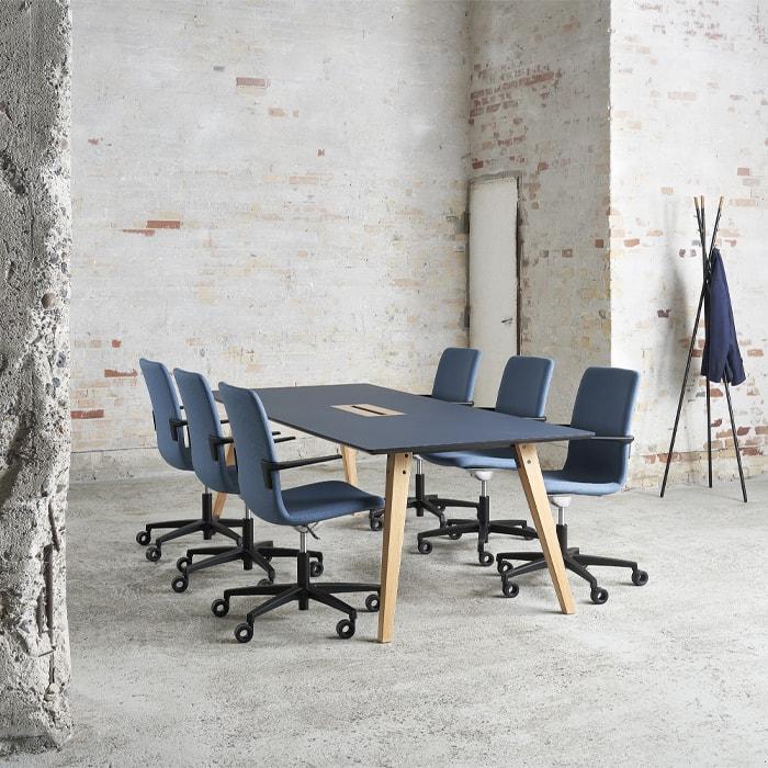 Cube Design - kontormøbler - S20 konferencestol med høj ryg