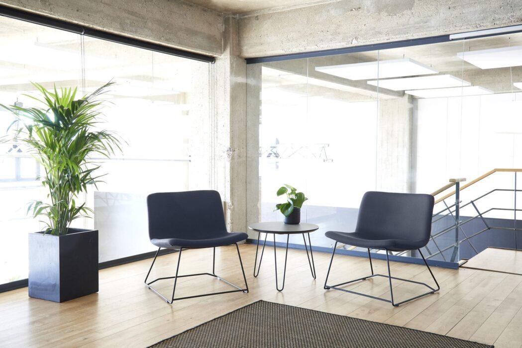 Cube Design - kontormøbler - S20 loungestole - sort stel - fuldpolstret