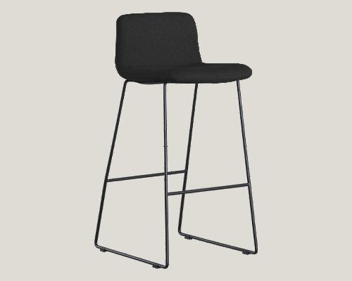 Cube Design - kontormøbler - S20 barstol - sort stel - fuldpolstret