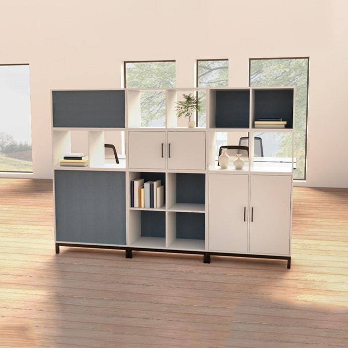 Cube Design - kontormøbler - reol uden bagbeklædning - pyntereol - gennemsigtig