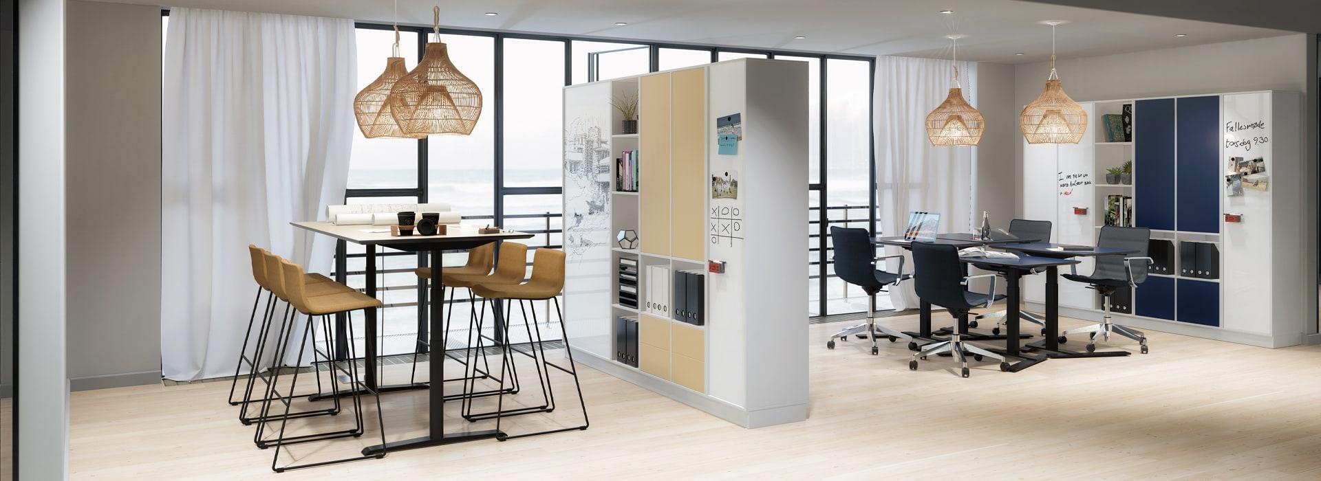 Cube Design - kontormøbler - projektkontor- gruppearbejde - whiteboard