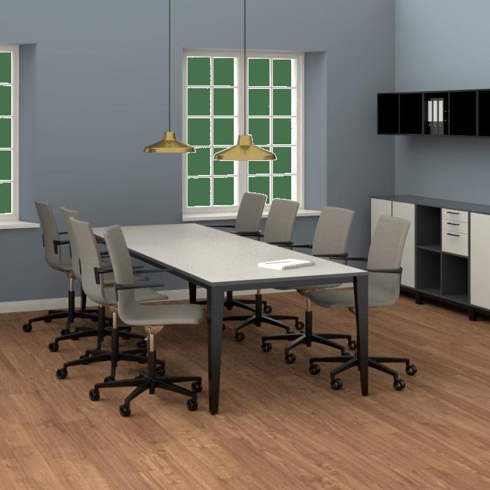 Cube Design - kontormøbler - Verzo mødebord - mødebord med lige metalben