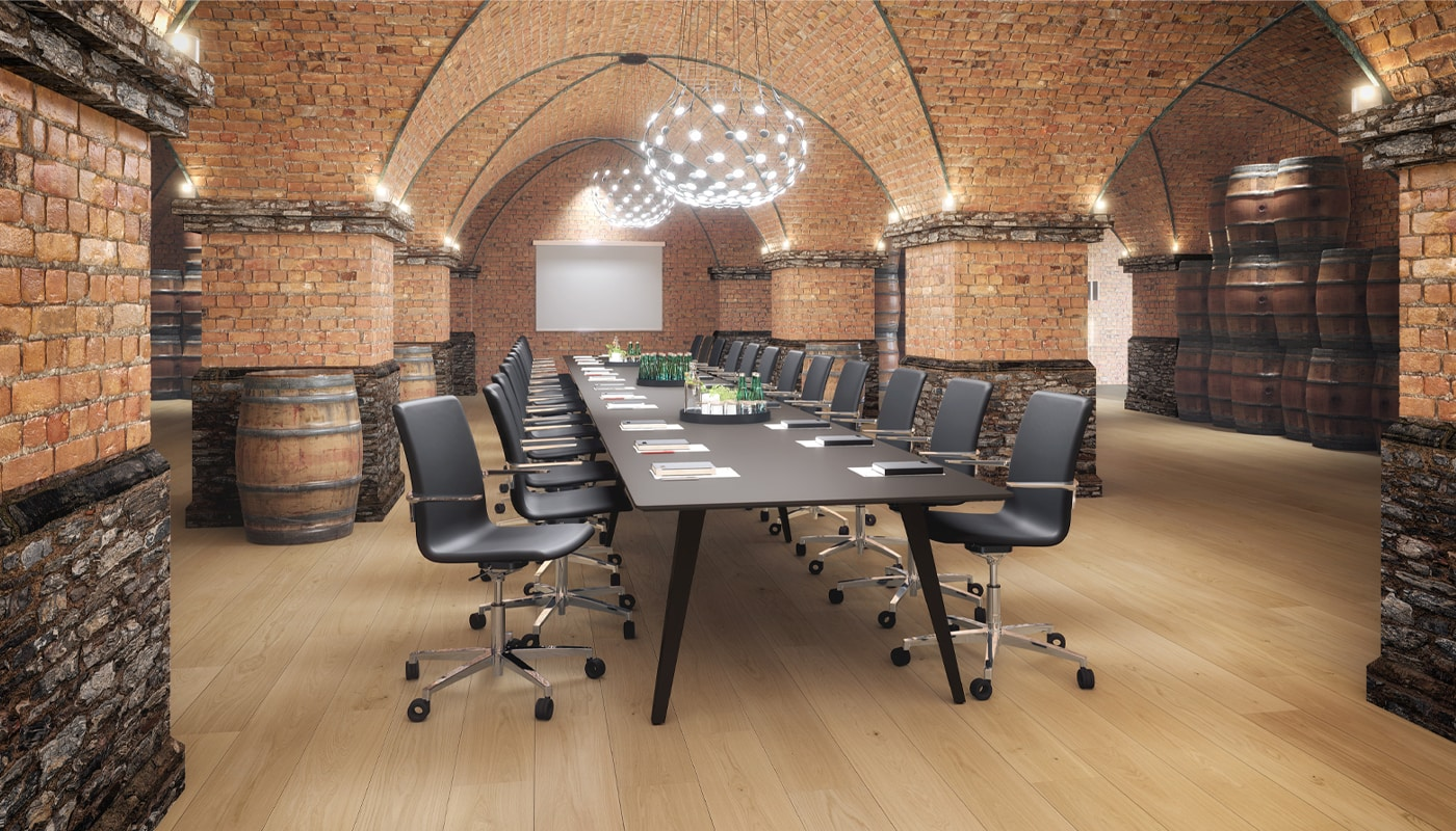 Cube Design - kontormøbler - Spider langbord - langt bord - stort mødebord