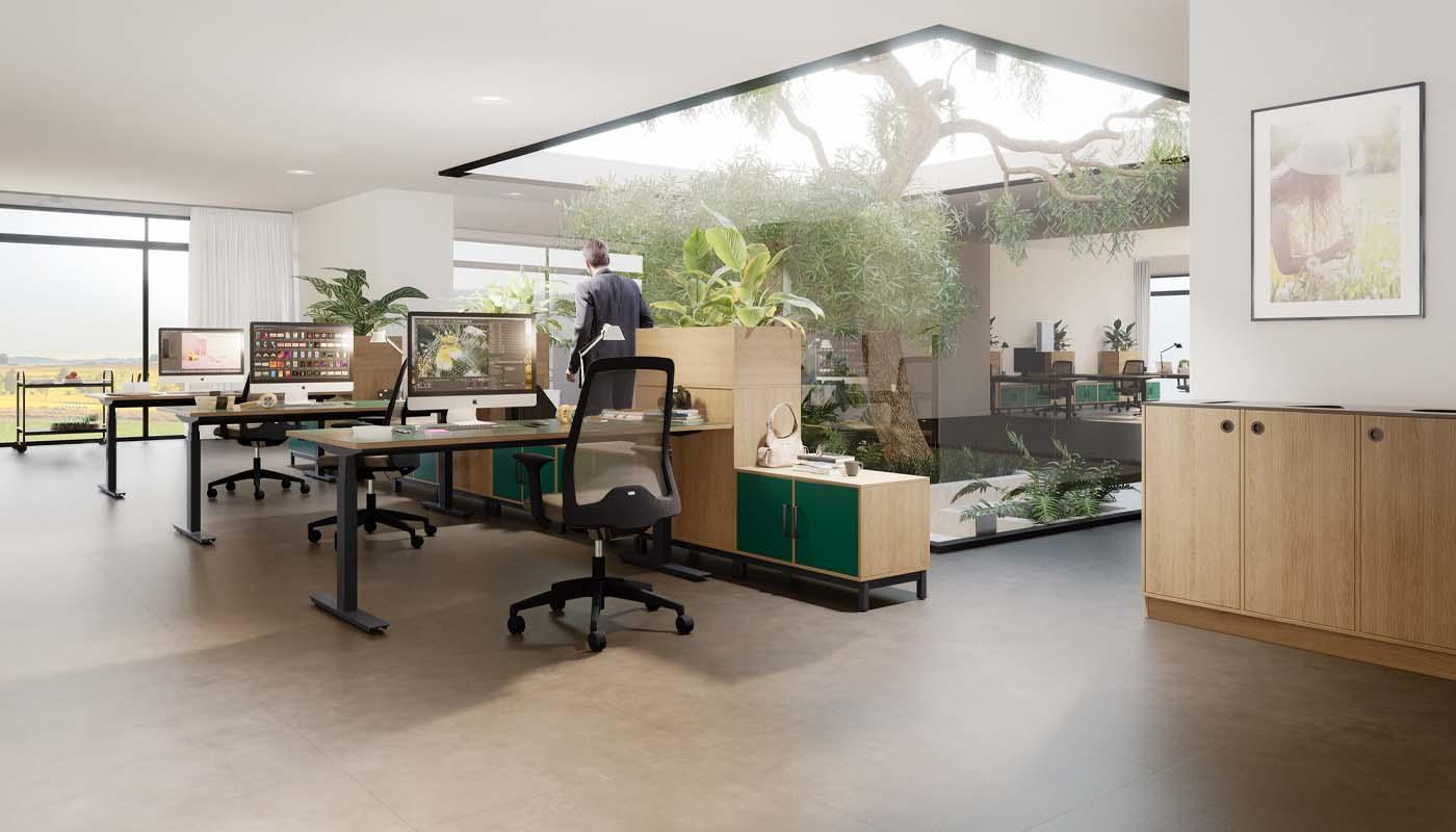 Cube Design - kontormøbler - miljøstation